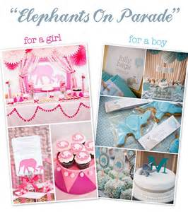 Girl Elephant Theme Baby Shower Ideas