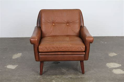 modern brown leather chair by skipper mobler at 1stdibs