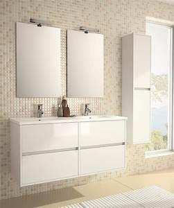 ensemble meuble noja 1200 With carrelage adhesif salle de bain avec reglette led double