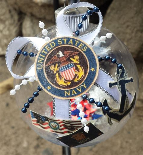 us navy christmas ornament anchors away united by