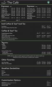 Starbucks Menu Nutrition Calculator - Nutrition Ftempo