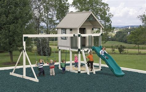 Maintenance-free Vinyl Swing Sets Will Be There For Your