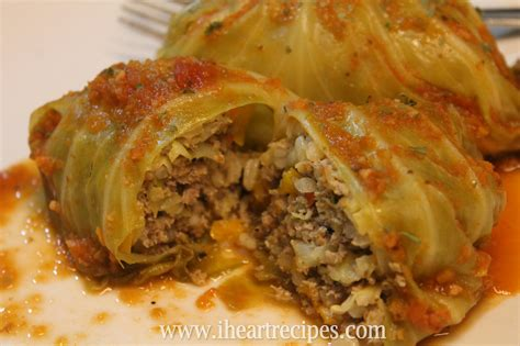 stuffed cabbage easy baked stuffed cabbage rolls i heart recipes