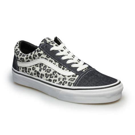 vans skool leopard grey womens sneakers
