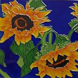 Continental Art Center BD-0500 8 by 8-Inch Two Sunflowers ...