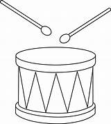 Drum Clip Clipart Drums Outline Drawing Snare Marching Christmas Cliparts Drawings Instrument Template Percussion Coloring Sweetclipart Colorable Amp Easy Line sketch template