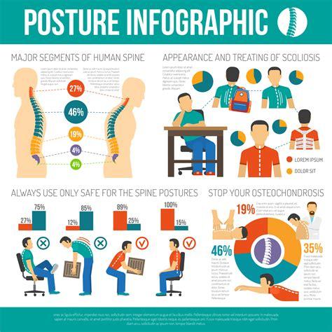 posture infographics layout   vector art