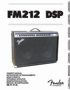 Fender Fm 212 Dsp User Manual