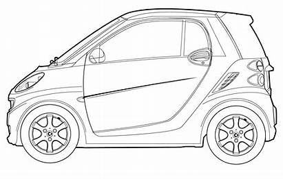 Smart Drawing Line Fortwo Cars Drawings Draw