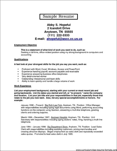 back office resume format office resume exles free sles exles format resume curruculum vitae free