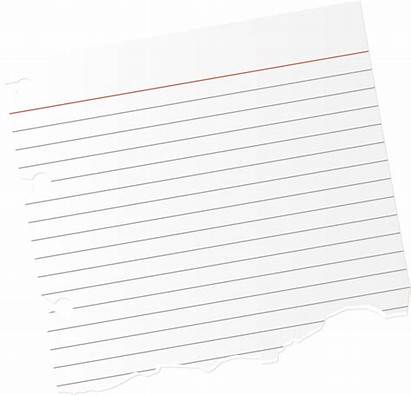 Paper Notepad Clipart Sheet Torn Notebook Ripped