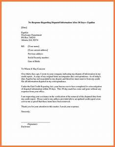 5 credit report dispute letter template progress report With letter of credit report