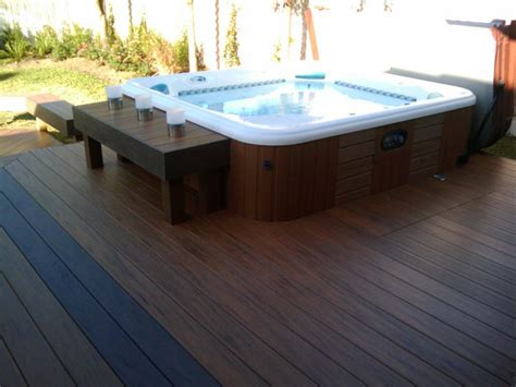 tub decking decks with hot tubs the outstanding home deck design homesfeed