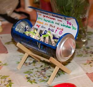 Geburtstagsgeschenk Selber Basteln : craft a tiny grill from a beer can great use for gifts of money diy pinterest ~ Watch28wear.com Haus und Dekorationen