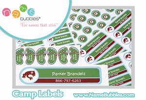summer camp prep name bubbles labels protect kids With clothing labels for camp