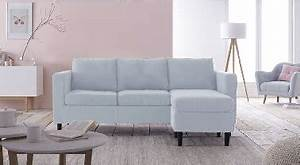 Canapé Scandinave Rose : salon cocon avec canape angle reversible bleu achat design ~ Teatrodelosmanantiales.com Idées de Décoration