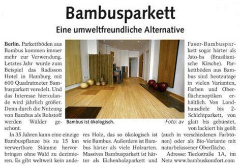 Alternative Zu Holz Bambusparkett by Bambusparkett Eine Umweltfreundliche Alternative