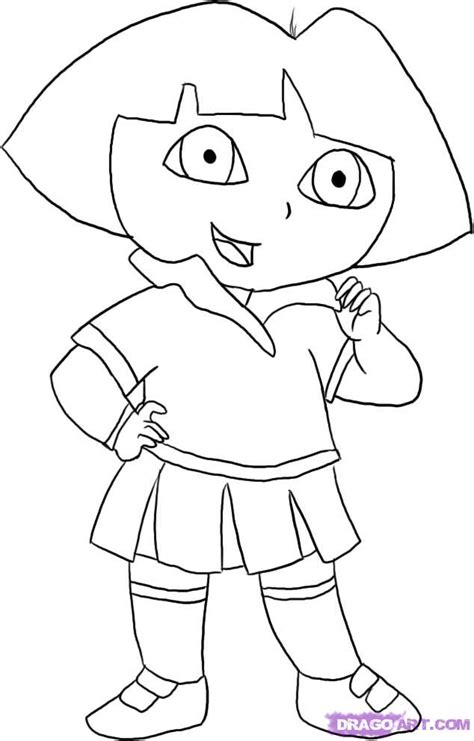 How To Draw Dora The Explorer Step By Step Nickelodeon