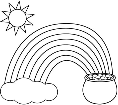 rainbow coloring pages  kids printable  coloring