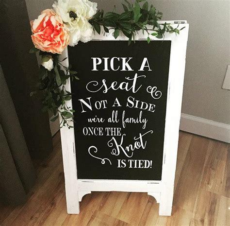 pick  seat wedding chalkboard easel chalkboard sign