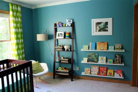 couleur mur chambre bébé deco chambre bebe garcon bleu et vert