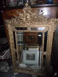 Miroir Doré Ancien : miroir ancien dor ref 1841 artisans du patrimoine ~ Teatrodelosmanantiales.com Idées de Décoration