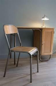 Chaise D école : bureau ma tre d 39 cole et sa chaise finition cir e vendu atelier vintage ~ Teatrodelosmanantiales.com Idées de Décoration