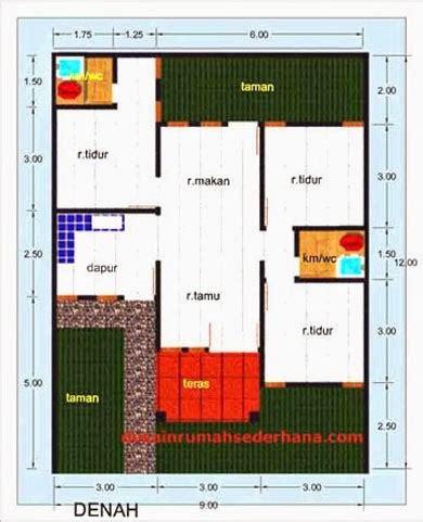 desain gambar denah rumah luas tanah   tampak cantik