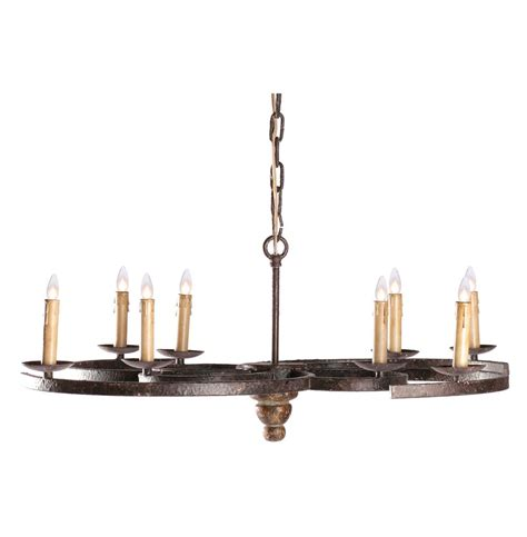 Low Profile Chandelier by Griffin Rustic Spiral Iron Low Profile 8 Light Chandelier