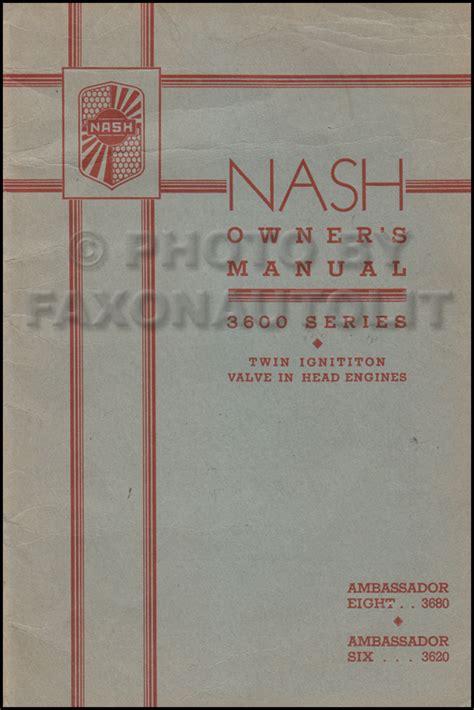 Nash Repair Shop Manual Original