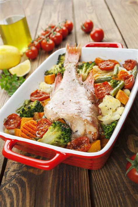 Main Dish Recipe Roasted Red Snapper With Vegetables  12