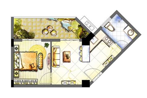 Watercolor Floorplans From Recent Television Shows And by Rendered Floor Plan Watercolor Search Projects