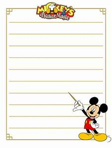 Free Printable Disney Writing Paper Templates Essays On Transcendentalism