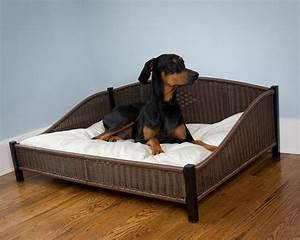 Wicker, Dog, Bed, With, Easy, Clean, Pet, Cushion, Soft, Pillow