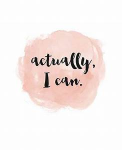 """Actually, I can."" 