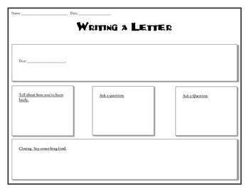 letter writing graphic organizer   grade essentials
