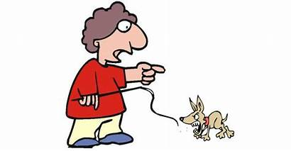 Dog Punished Aggressive Clipart Behavior Psychology Enterprises
