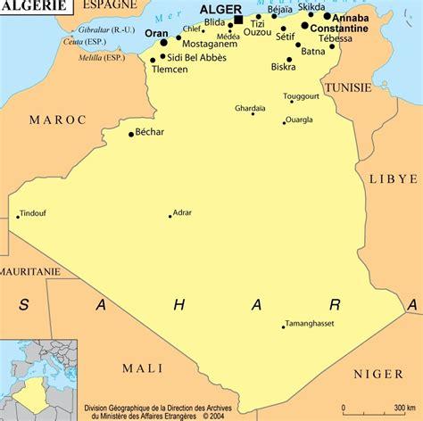 Carte Geographique Villes Algerie by Alg 233 Rie Toutes Les Informations Et Cartes Sur Le Pays