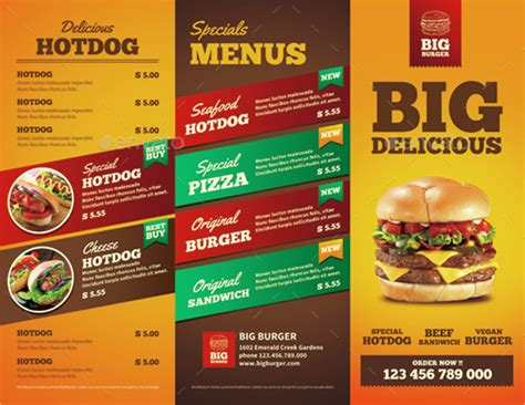 Food Brochure Templates by 13 Fast Food Brochures Free Psd Ai Eps Format