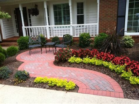 paver patio in front yard backyard landscaping