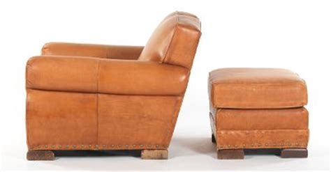 rustic leather easy chair and ottoman william alan 09 21