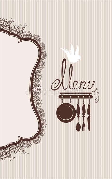 restaurant menu design  lace table napkin  stock