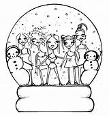 Coloring Spice Snow Globe Pages Snowglobe Christmas Globes Wonderstrange Freebies Template 80s Tell Stamps Digital Really Want Hair Arts sketch template