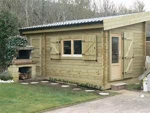 Chalet Bois Toit Plat : abri de jardin toit une pente cabanes and co ~ Melissatoandfro.com Idées de Décoration