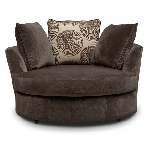 Swivel Loveseat by Cordelle Swivel Chair Chocolate Value City Furniture