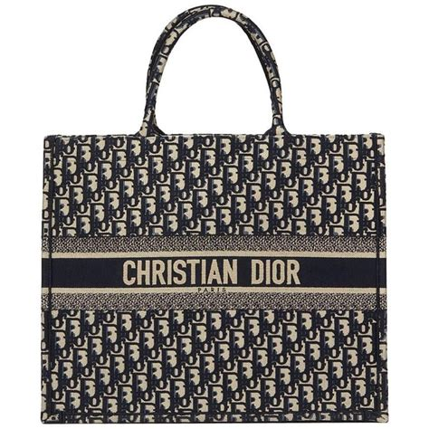 christian dior navy oblique monogram canvas book tote   stdibs