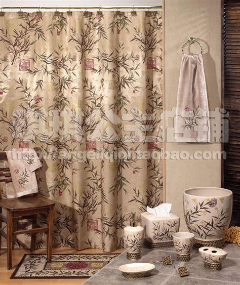 vintage print shower curtain dec