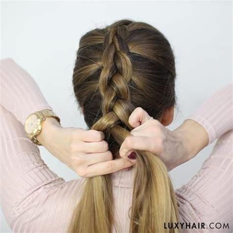 dutch braid hair tutorial  beginners