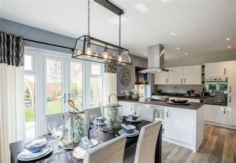 interior designed showhome modern open plan kitchen