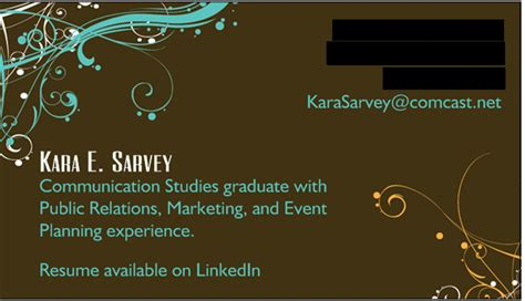 Business Cards For Job Seekers?